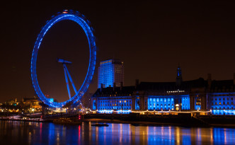 London Eye, Night